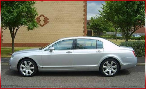 Prom Limo Hire - Bentley Flying Spur Side