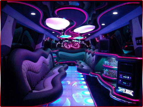 Prom Limo Hire - Range Rover Sport Limo Interior